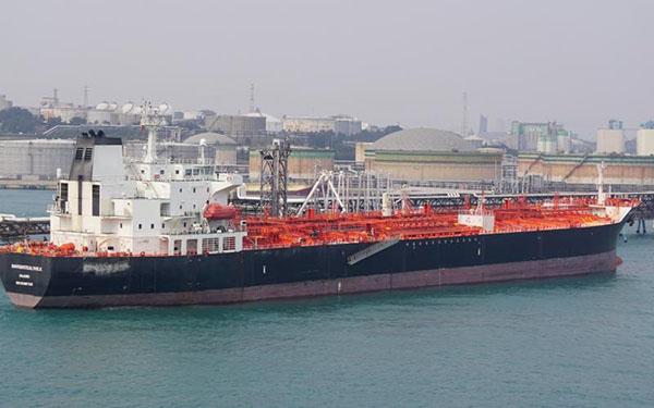 ALNIC MC的最後位置是在新加坡東部海域。(截圖自Marine Traffic)