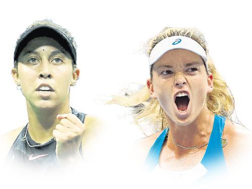 右圖:科科范德維根勇挫世界一姐普利斯科娃。(美聯社) 左圖:馬蒂森凱斯