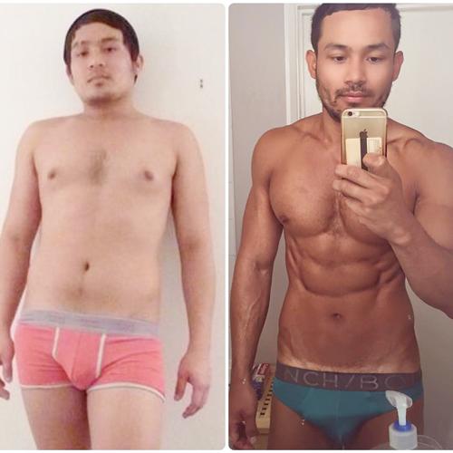 西農甚至曾經放出自己減肥前後的照片,只為了鼓勵大家多運動,保持身材。