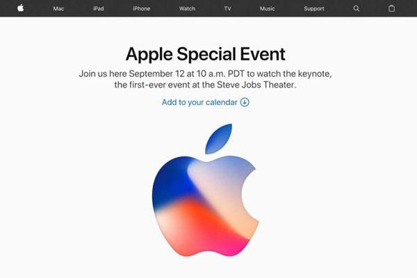 """屏幕上打出了""""歡迎來到史蒂夫·喬布斯劇院""""的字幕。"""