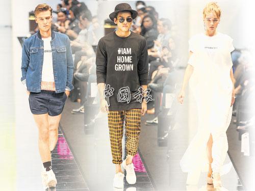 左:大熱天氣常為大地帶來雨水,這不但為女士們帶來展現美腿的好時機,其實「熱褲」何嘗不也是男士演繹美腿的最佳神器。 中:主題標纖Hashtag是一種時尚表現,大大的醒目字眼,讓人一目了然。黑色長版衛衣配上黃黑格子褲,即使簡約也能顯現時尚一面。 右:白+白要如何配搭?身穿白色上衣配搭白色背帶連衣裙,腳踩松糕鞋,具有減齡效果,青春十足!