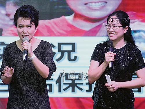林穎芷(左)與姐姐林穎茜分享抗癌之路所面對的經歷,鼓勵癌症病患勇敢面對,給予生命第二次機會。