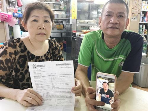 """""""白橋海鮮湯小吃""""女攤販陳太太與丈夫被騙1550令吉。"""