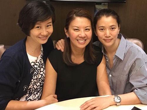 2017年的姚康莉(左起)、翁杏蘭與袁詠儀。