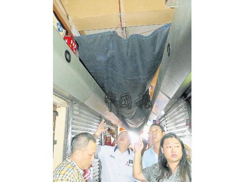 當局使用帆布擋漏水,唯帆布極易燃燒,成為業者的另一隱憂。