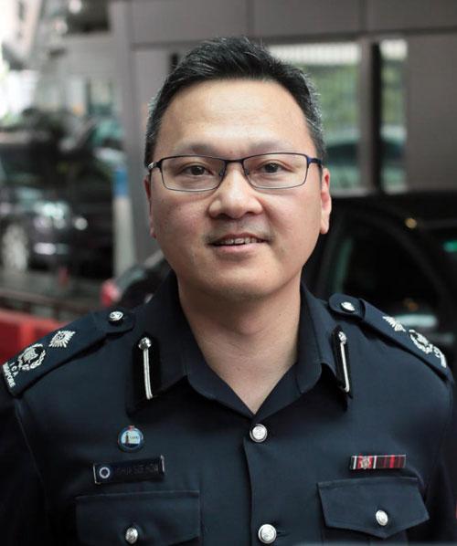 綜合關卡指揮處陸路部門的助理總監指揮官蔡澤豪。