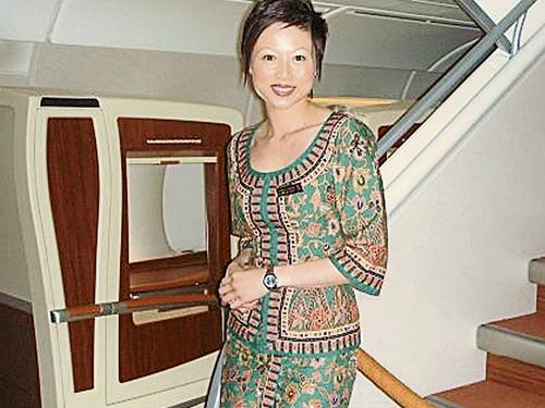 王淑芬曾在新航當空姐長達12年。