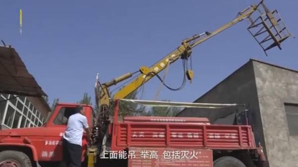 """""""山寨救援車""""屬多功能車種,設有如升降雲梯等裝備。"""