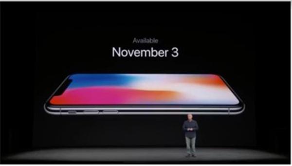 iPhone X預計11/3上市。∕取自網路