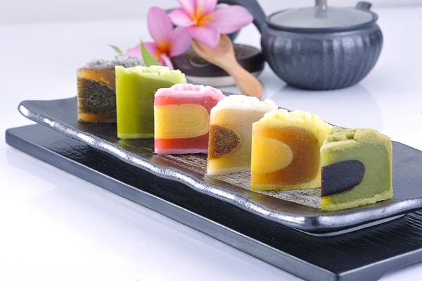 海外天冰皮月餅系列皆採用日常食材,不含人造色素。