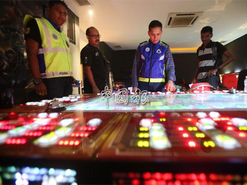 其中1間非法賭博中心只開業2天,營業期間讓熟客進入。