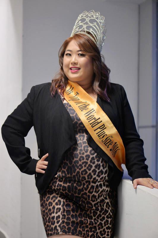 陳思敏去年代表新加坡參加在拉脫維亞舉行的胖美姐大賽,成功摘冠。