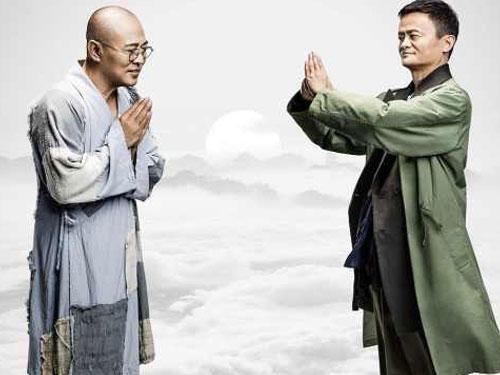 """馬雲自資自演電影《功守道》找來多為武打巨星助陣,被批""""有錢就是任性""""。"""