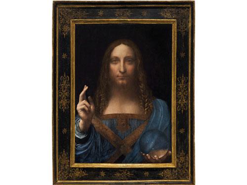 達文西的畫作《救世主》。