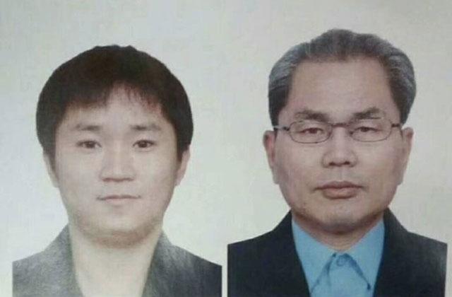 嫌犯照片,左為李忠吉、右為李鍾植。