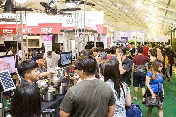 2場同時舉行的展銷會,推出超低價格的家具電器產品,勢不可擋。