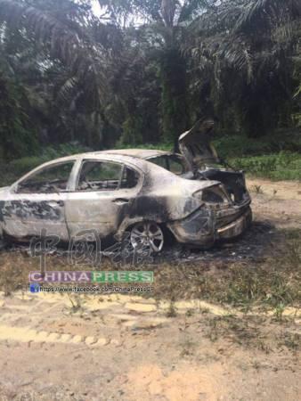 失蹤者周佳俊的奔舒娜轎車于星期一被發現時,明顯被燒毀。