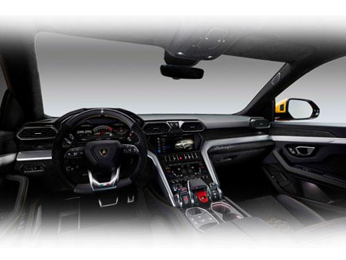 """""""超級SUV"""" Urus內部的高科技裝置。"""