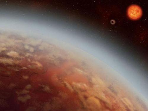 K2-18b行星的構想圖。