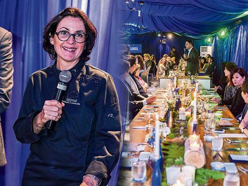 這次宴會邀請到Nathalie Gourmet Studio餐廳大廚Nathalie親自掌廚,法式創意料理與干邑完美配搭。