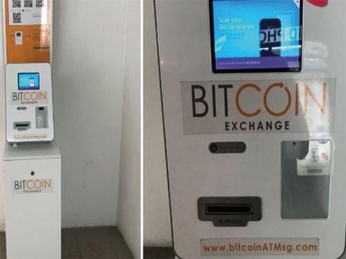 """新加坡比特幣提款機(圖取自""""8頻道新聞"""")"""