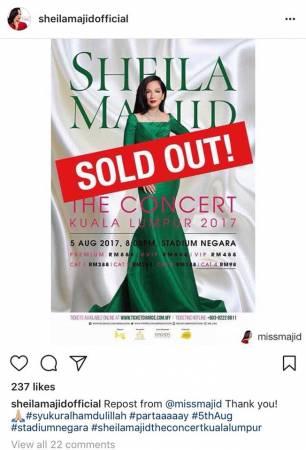 理查曼蘇也在推特附上兩張照片,暗諷茜拉馬姬的演唱會門票票價,在最高高達888令吉下也能搶光,意指後者指我國經濟不景氣並不屬實。