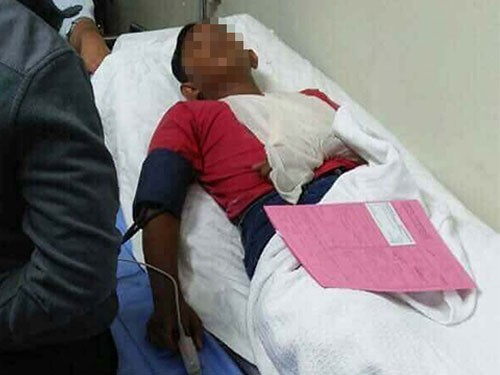 其中一名傷者被緊急送院治療。