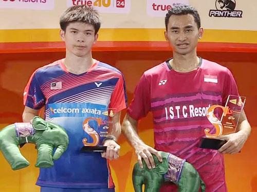 梁峻豪(左)在決賽不敵大他11歲的湯米,只能屈居亞軍。