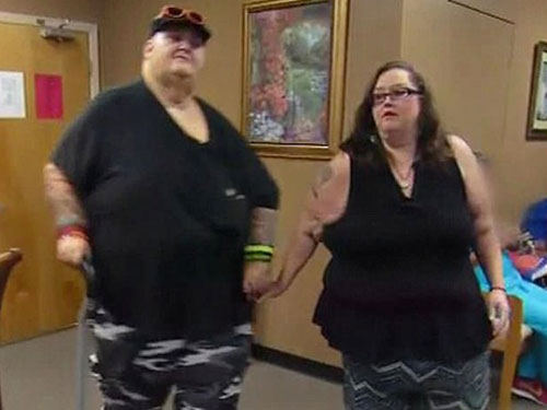 兩人減肥後。