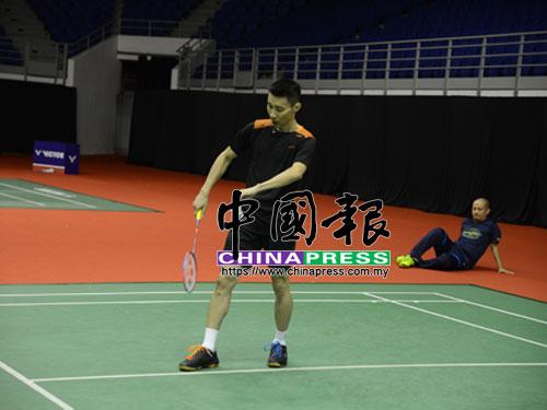 李宗偉目前正在備戰週三全面開打的大馬羽球大師賽。(攝影:岑家豪)