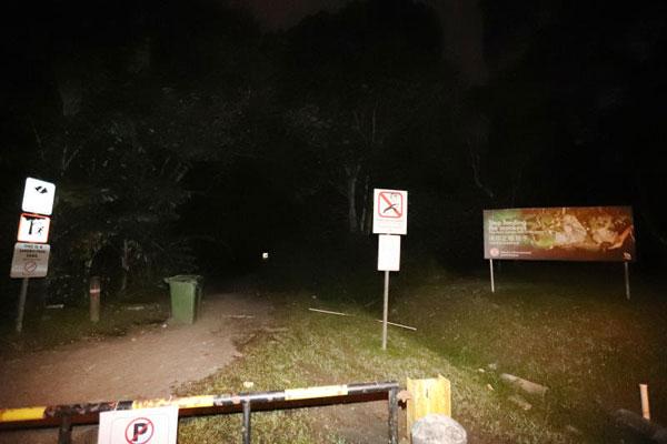記者深夜走訪榴槤旺地,發現四周漆黑一片。