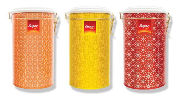 寓意吉(橙),興(紅),旺(黃)三款限量版密封罐設計,絕對是你新年最佳送禮佳品。
