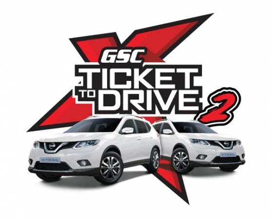 """錯過了第一輪競賽活動?不用哭,GSC再給你機會,""""Ticket to Drive 2""""即日起至4月30日的競賽期間,就看你有沒有本事駕走全新Nissan X-Trail SUV!"""