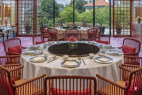 新加坡麗晶酒店夏宮中餐館。(聯合早報網∕麗晶酒店 )