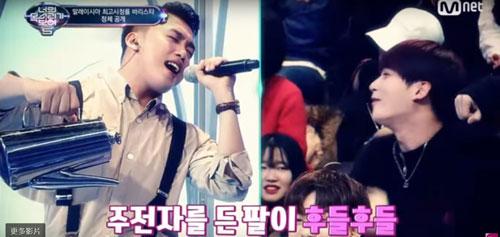 高權在韓國《看見你的聲音》的表現讓在座藝人嘉賓都驚喜得目瞪口呆!