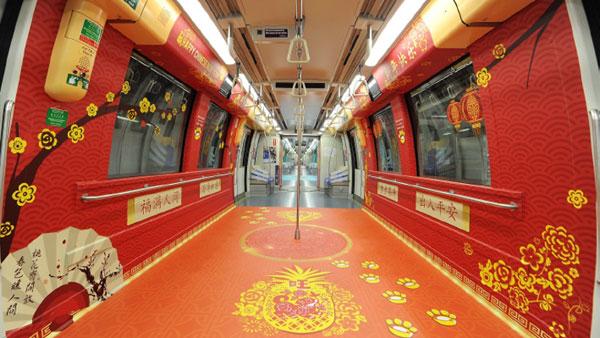 為迎接狗年到來,新加坡公交紛紛換上新裝。