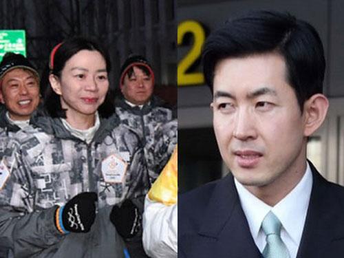 赵显娥(左)与座舱长朴昌镇(右)际遇大不同。