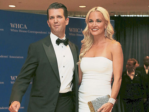 小唐納德和妻子凡妮莎。(路透社)