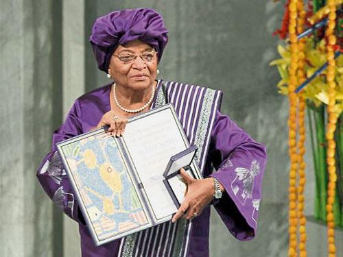瑟利夫2011年贏得諾貝爾和平獎。