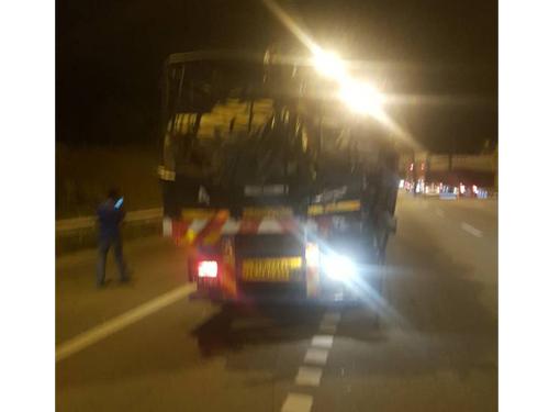 拖格羅厘被巴士撞擊後,幾乎毫無損毀。