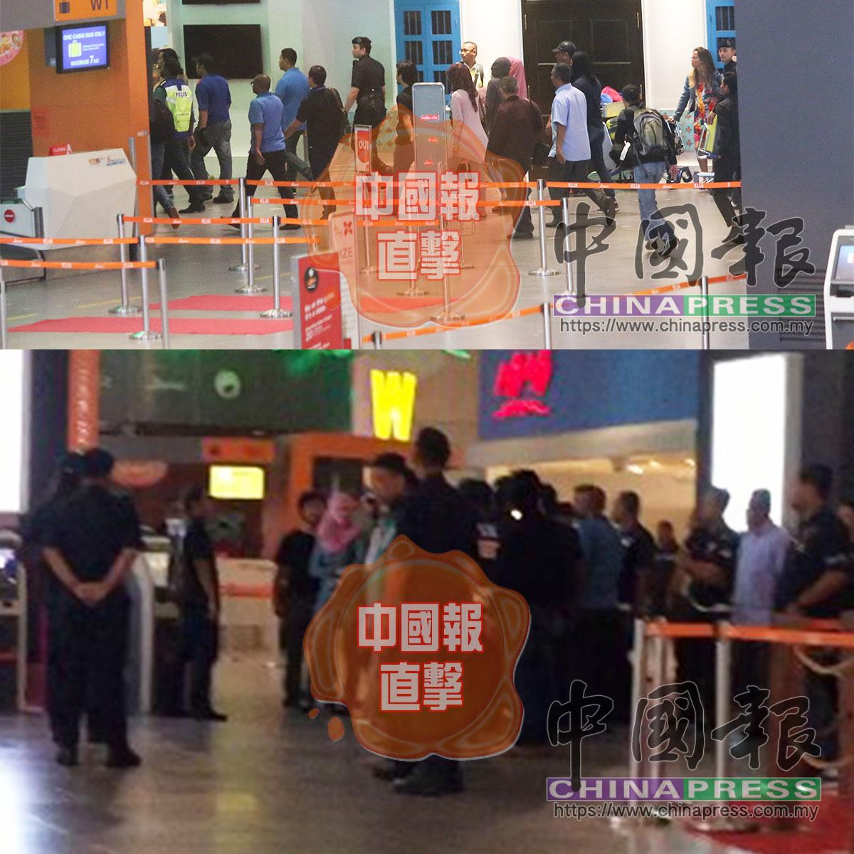 雪州警方押著2名女子重返第二吉隆坡國際機場,《中國報》獨家直擊金正男命案重組過程。圓圈處為其中一名女子。