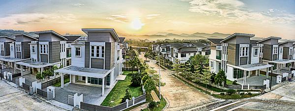GTM置地的綠景苑圍籬綠化社區,已售出98%單位。