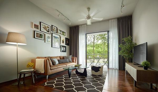 The Tamarind豪華公寓的客廳,適合一家大小度過溫馨時光。