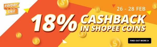 Shopee Pay Day Sale的18%現金回扣,絕對讓你買得盡興,同時節省更多。**留守到文章最後以獲取您的優惠碼。