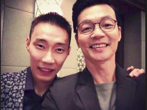 李国煌(右)透露李宗伟很友善。