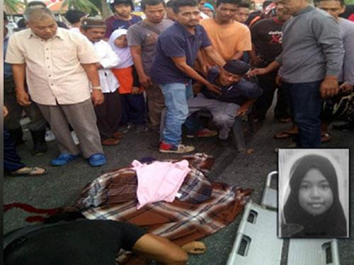 女死者诺苏海芭命丧当场。