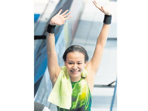 張俊虹當選去年全國最佳女子運動員,實至名歸。
