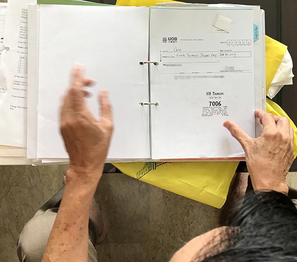 鄭泰明:被告的一張空頭支票成了證物之一。