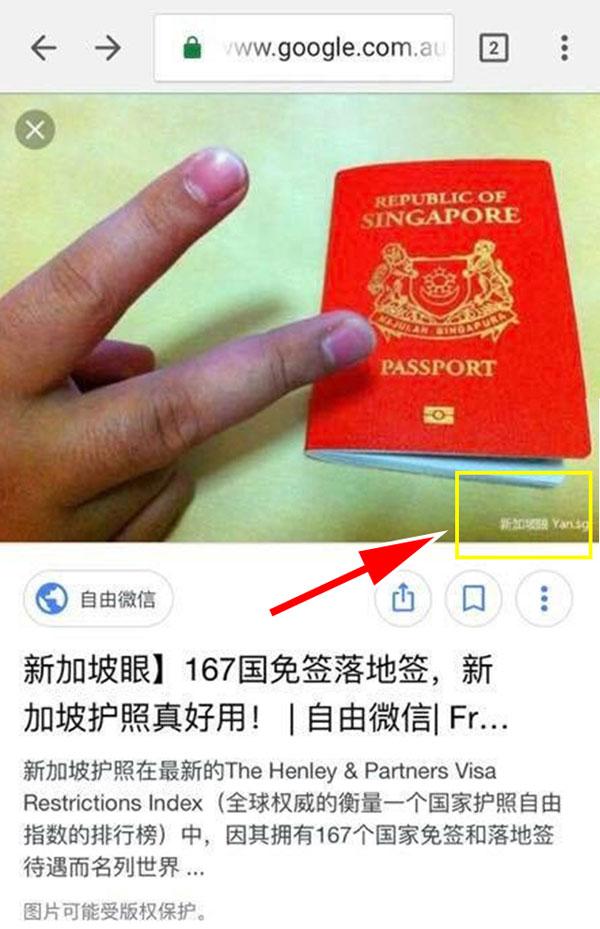 """該名網友所分享的照片右下角含有浮水印,經搜索發現原自於一個新聞。(摘自""""World of Buzz""""網站)"""