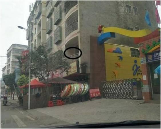 圈內為二樓漏水的住戶。